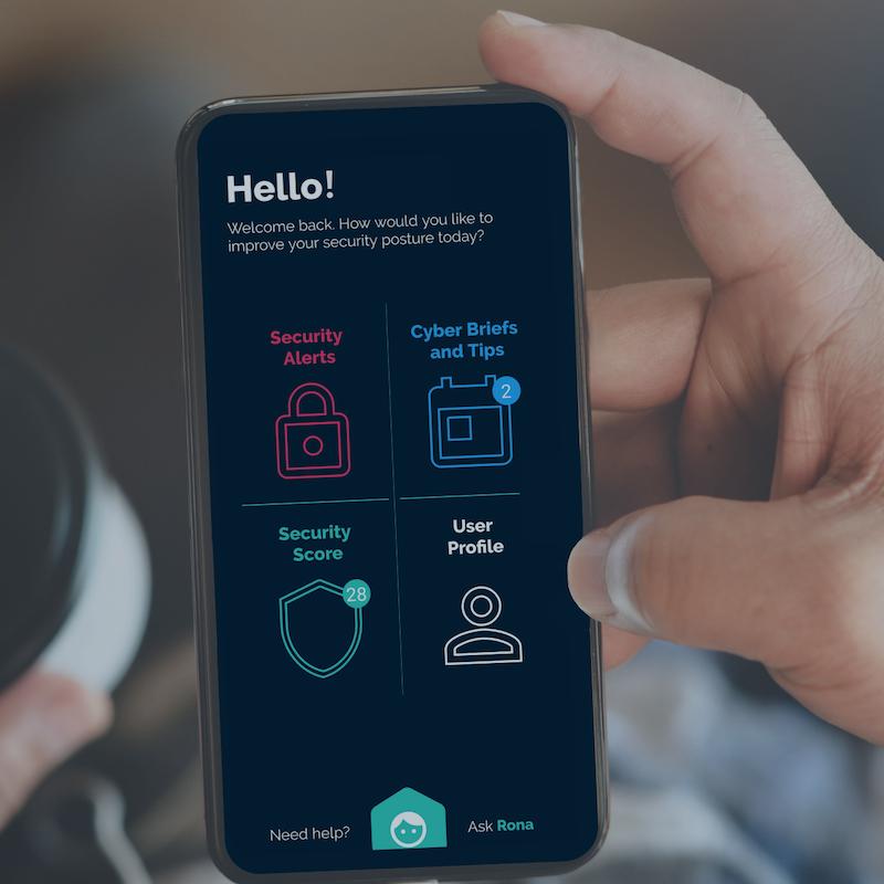 Rona mobile app for employee cybersecurity